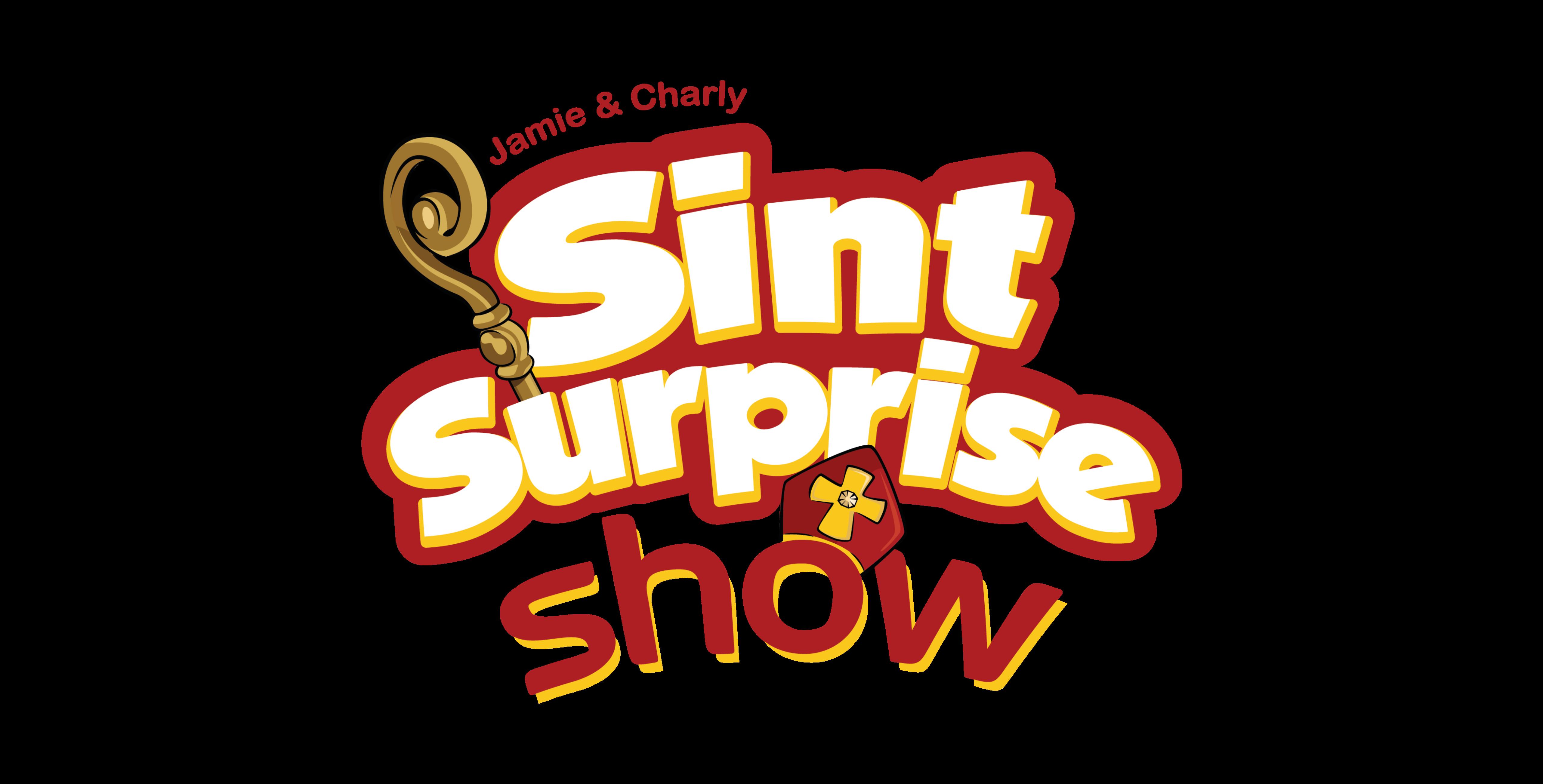Sinterklaasshow Jamie Charly Sint Surprise kindershow logo